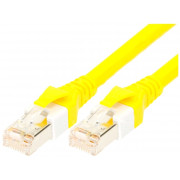 PATCH CORD S/FTP Cat 6 linka Cu PUR ŻÓŁTY 1m 26AWG