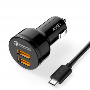 AUKEY  2XUSB 36W QUICK CHARGE 3.0  KABEL MICRO USB