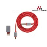 Kabel USB 100cm microusb iphone lightning MCTV-667