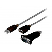 ADAPTER USB-RS232 USB A WT/D-SUB 9PIN 1,5m USB 2.0