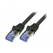 LOGILINK PATCH CORD S/FTP 6a LSZH CZARNY 2m 26AWG