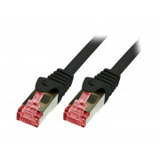 LOGILINK PATCH CORD S/FTP CAT.6 CZARNY 0,5m 27AWG