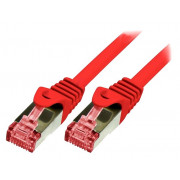 LOGILINK PATCH CORD S/FTP CAT.6 CU CZERWONY 2m 27AWG