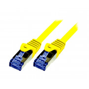 LOGILINK PATCH CORD S/FTP CAT.6a ŻÓŁTY 0,5m 26AWG