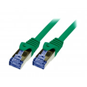 LOGILINK PATCHCORD S/FTP CAT 6a ZIELONY 0,5m 26AWG