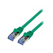 LOGILINK PATCH CORD S/FTP CAT.6a ZIELONY 1m 26AWG