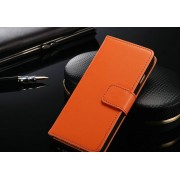 IPHONE 6 4.7 ETUI PORTFEL FLIP COVER SKÓRA ORANGE