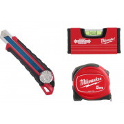 MILWAUKEE MIARKA 5m POZIOMICA MINI 10cm NOŻYK 18mm
