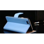 IPHONE 6+ PLUS ETUI PORTFEL FLIP COVER SKÓRA BLUE