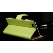 IPHONE 6+PLUS ETUI PORTFEL FLIP COVER SKÓRA GREEN